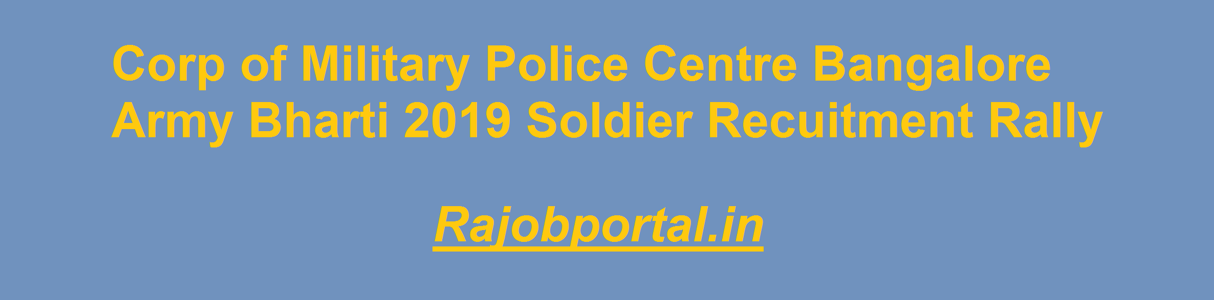 Corp of Military Police Centre Bangalore Army Bharti Result
