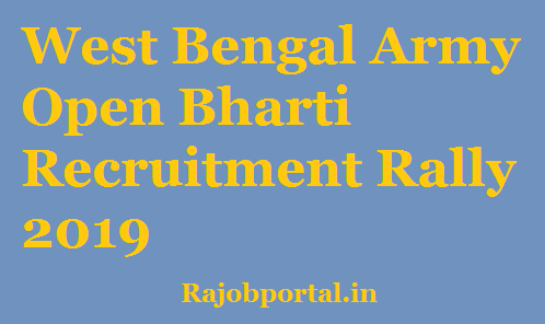 West Bengal Army Open Bharti 2019
